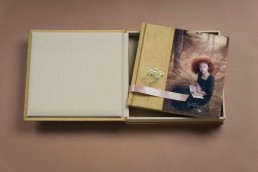 Complete Photo Book Set combo set for phootographers wedding book wedding album and box with usb stick mustard colour big acrylic window uai